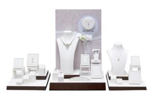 歐式白色傳遞幸福珠寶陳列展示擺件道具中套