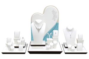 藍色背板白色愛心地中海風情飾品展示總套組