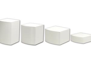 弧形小木座-白色珠寶展示台