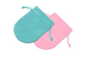 粉綠色珍藏圓布袋