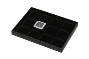 黑色12格大裸石盤盒