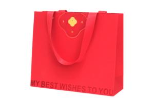 設計案例5-喜餅緞帶壓紋紙袋