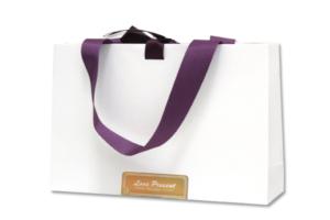 紙袋客製案例6-精品品牌緞帶紙袋