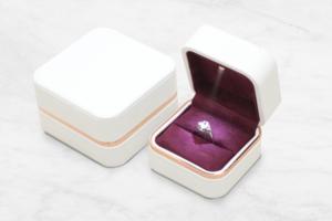 白色浪漫LED燈戒指盒-珠寶盒可客製LOGO