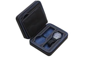 皮革藍黑4入裝錶盒2